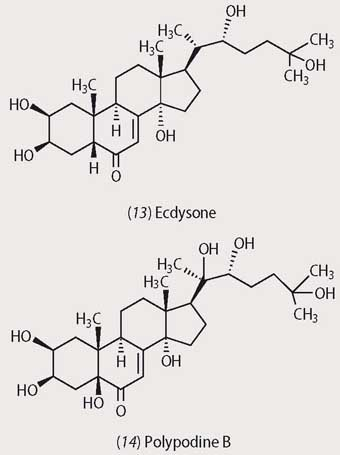 Ecdysone and polypodine B